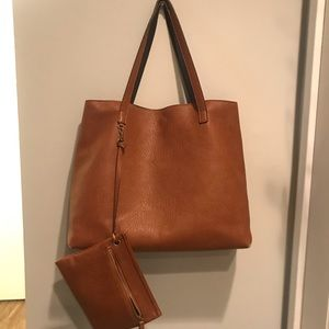 Nordstrom reversible faux leather tote